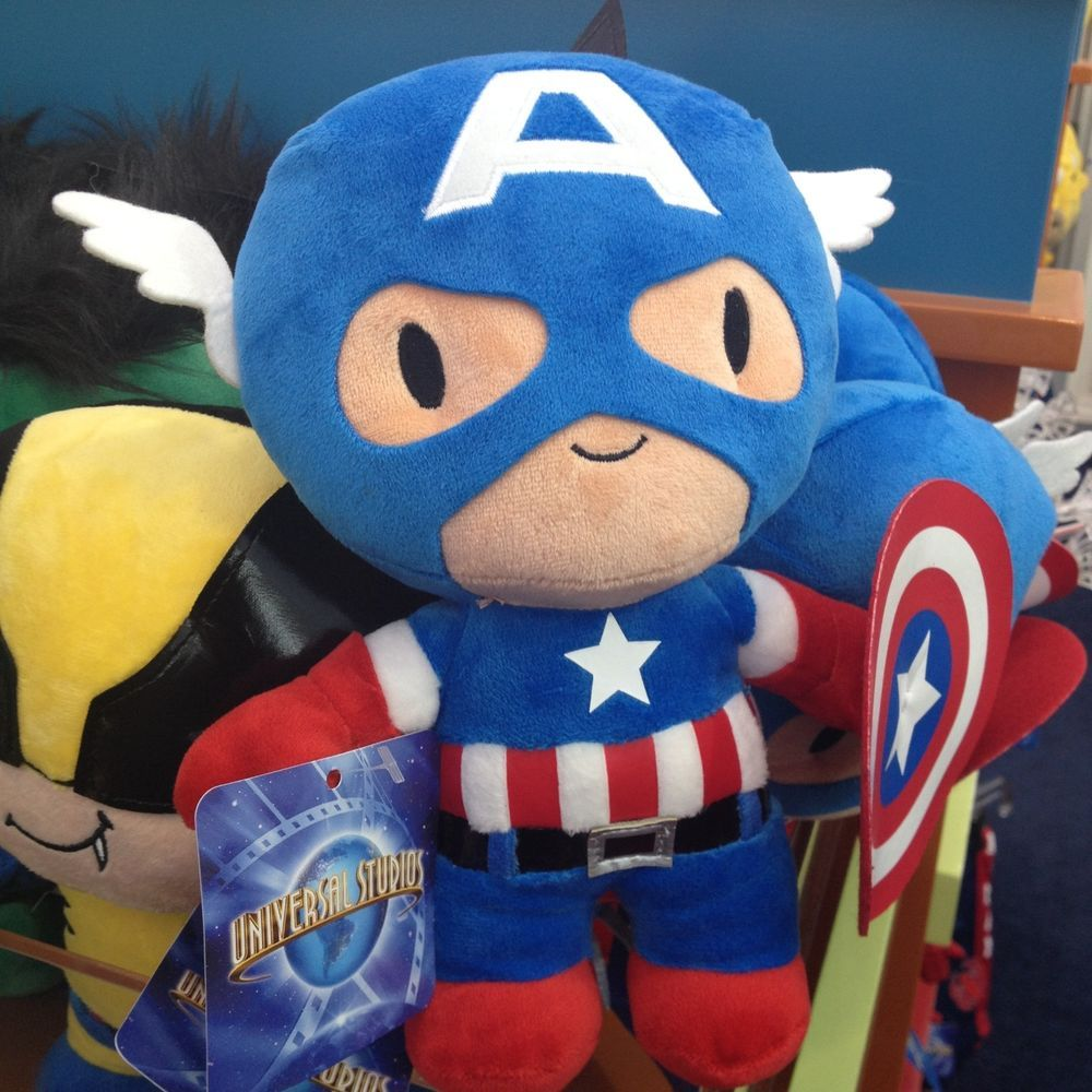 a823c662d3a Captain America Plush Marvel Universal studios NEW