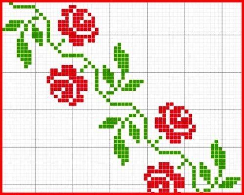 Flores | Punto de cruz - Colección de patrones punto de cruz gratis ...