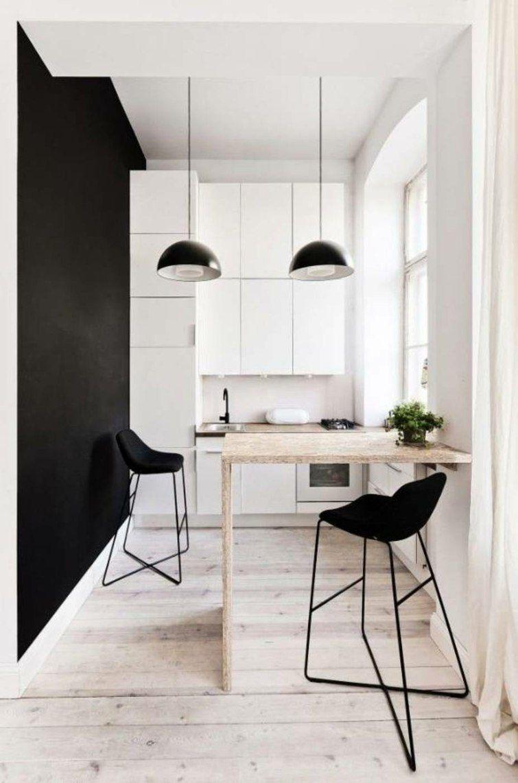 Cuisine Petite Surface Idées Pour Un Design Moderne Cuisine - Table bar pour petite cuisine pour idees de deco de cuisine