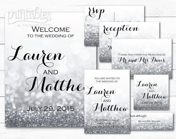 Silver Wedding Invitation Suite Elegant Wedding Invitations