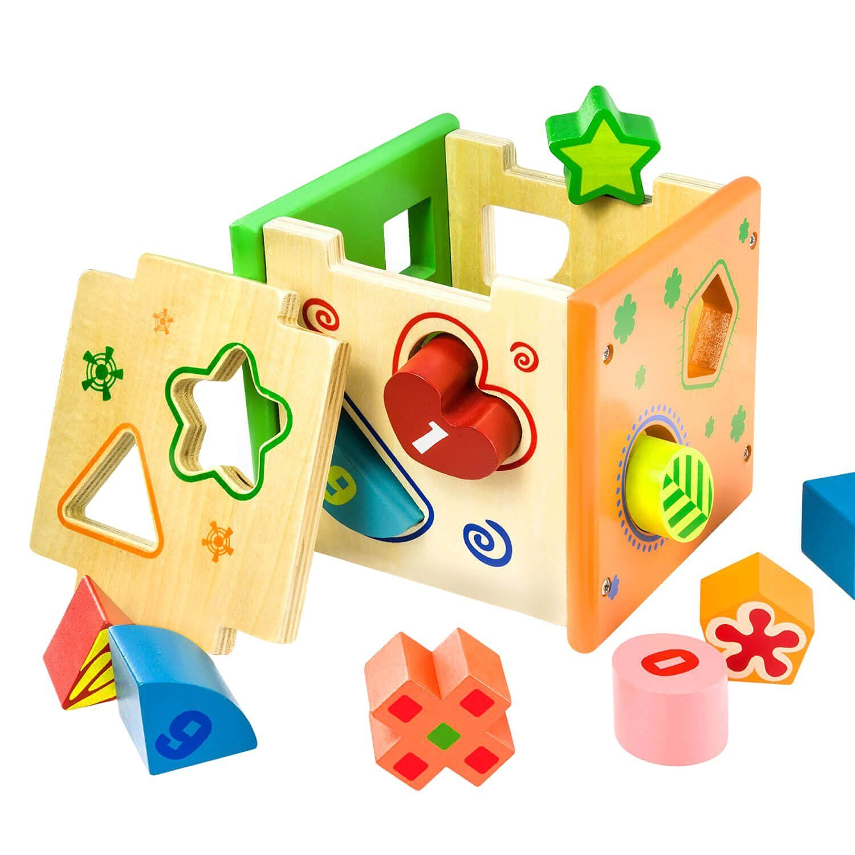 BATTOP Wooden Shape Sorter Toy Toy Pinterest