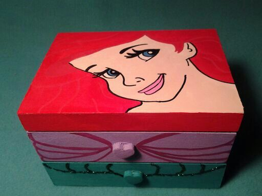 Ariel Treasure Box the little mermaid jewelry box handpainted personalized gift : ariel jewelry box - Aboutintivar.Com