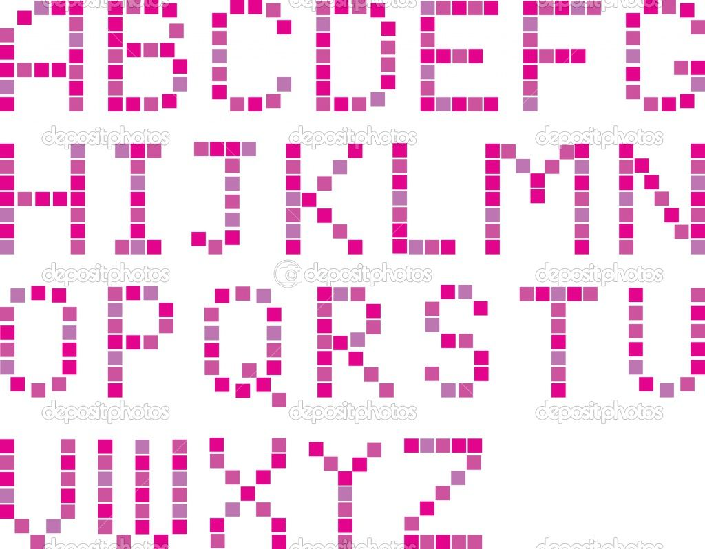 Pixel Alphabet With Images