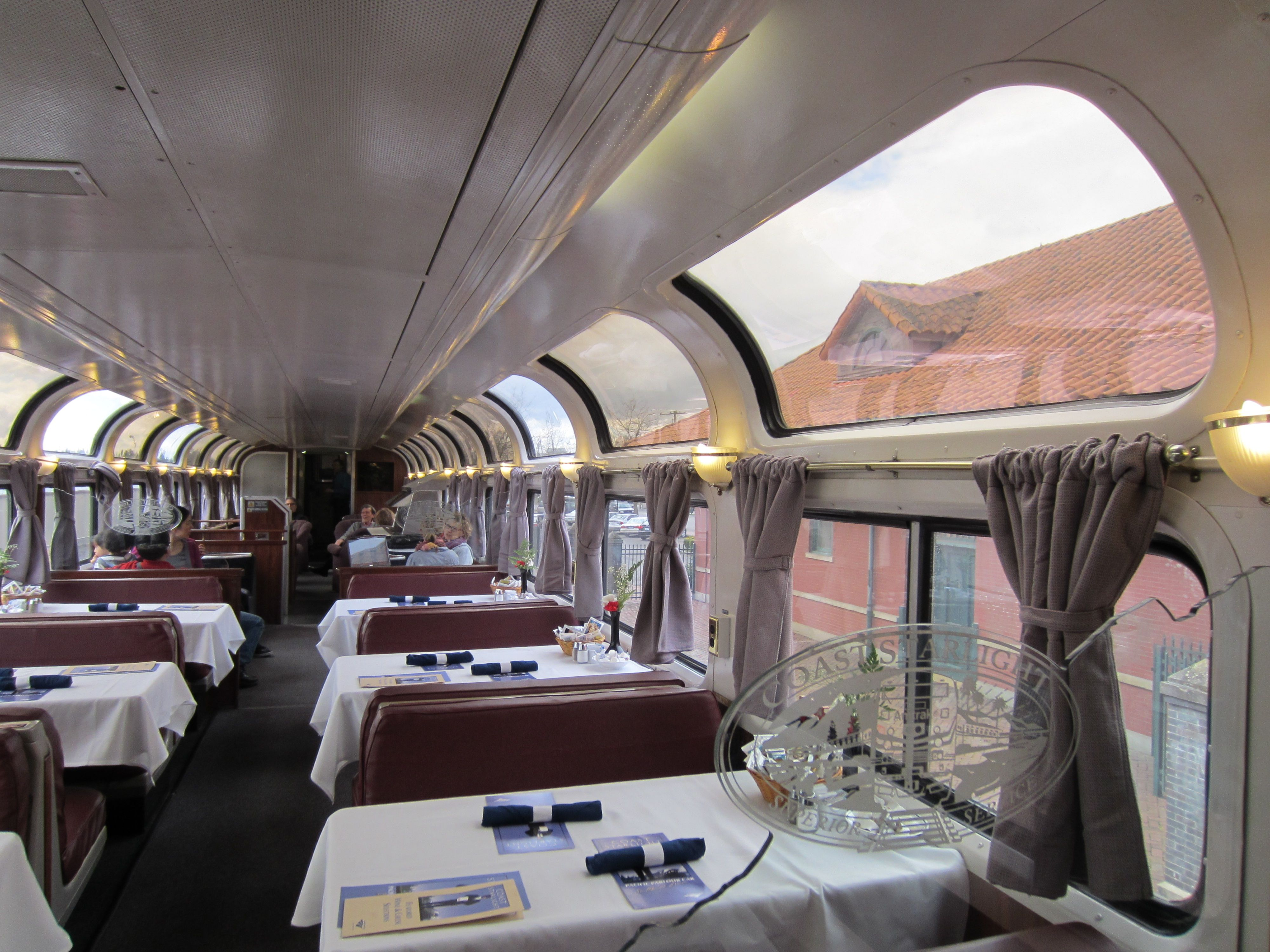 Amtrak's Pacific Parlor Car on the Coast Starlight, March