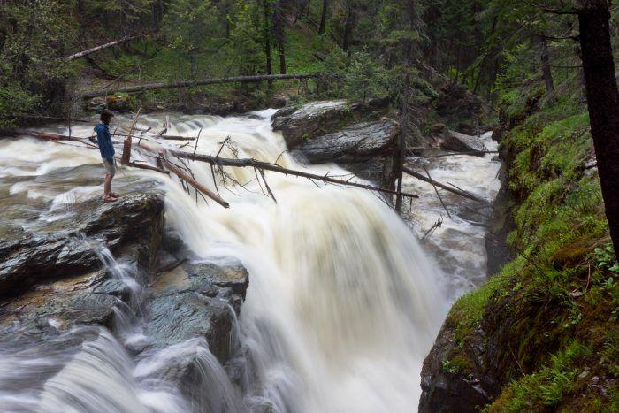 These 13 Hidden Waterfalls In Montana Will Take Your Breath Away Montana Waterfalls Waterfall Scenic Waterfall