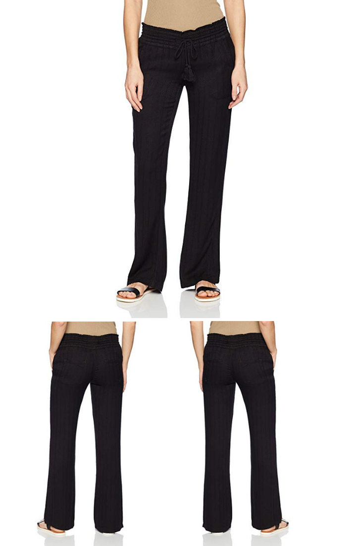 Roxy Juniors Oceanside Soft Pant Womens Black Linen Pants Womens Wide Leg Linen Pants Linen Pa Linen Pants Women Black Linen Pants Womens Wide Leg Linen Pants [ 1102 x 735 Pixel ]