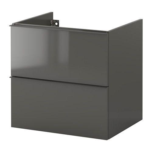 godmorgon waschbeckenschrank 2 schubl hochglanz wei haus g steklo pinterest. Black Bedroom Furniture Sets. Home Design Ideas