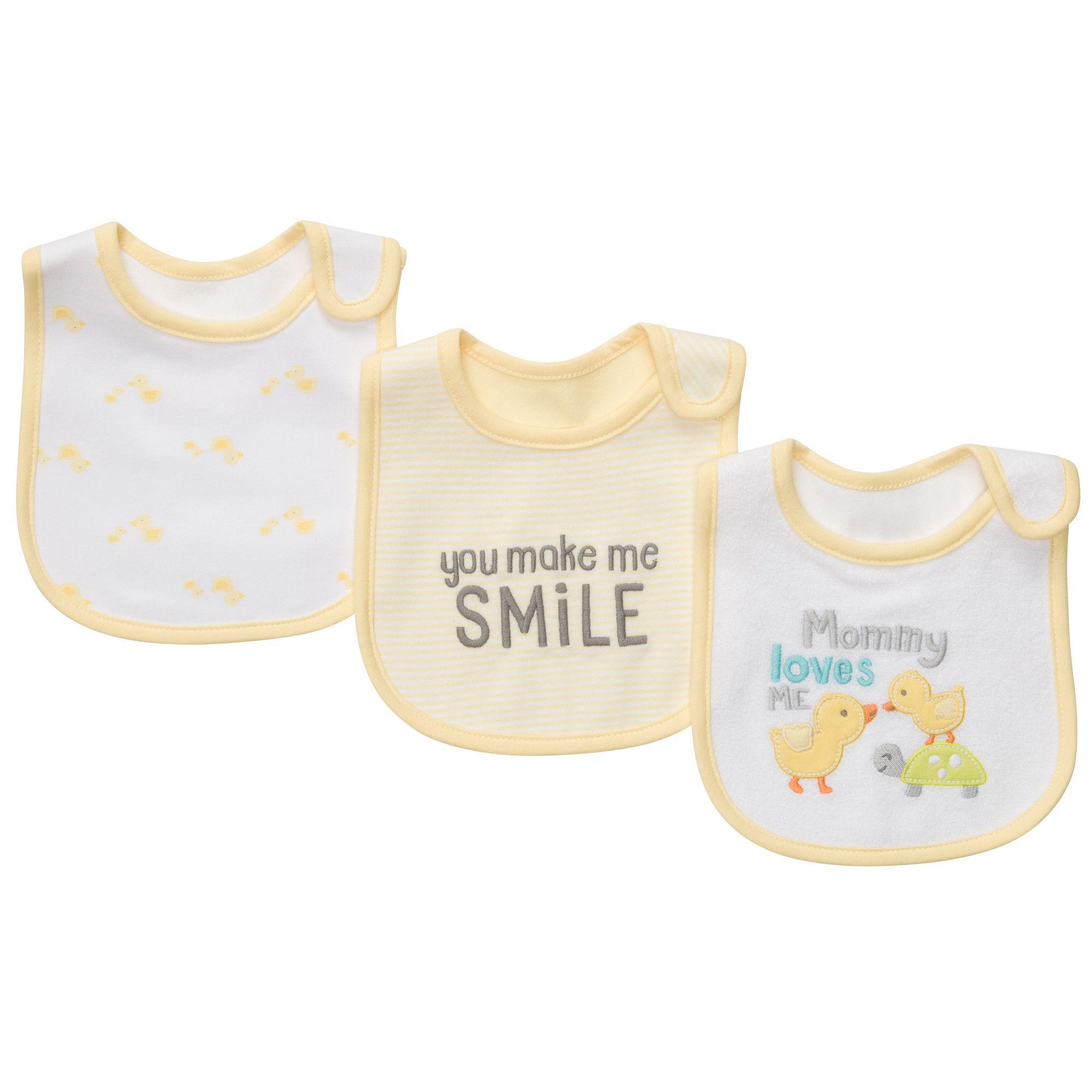 3 Pack Teething Bibs Baby Neutral Bibs & Burp Cloths