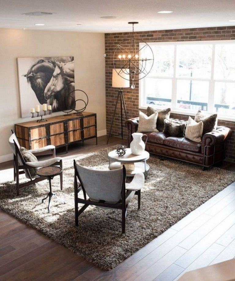24 Cozy Masculine Living Room Design Ideas With Rustic Style