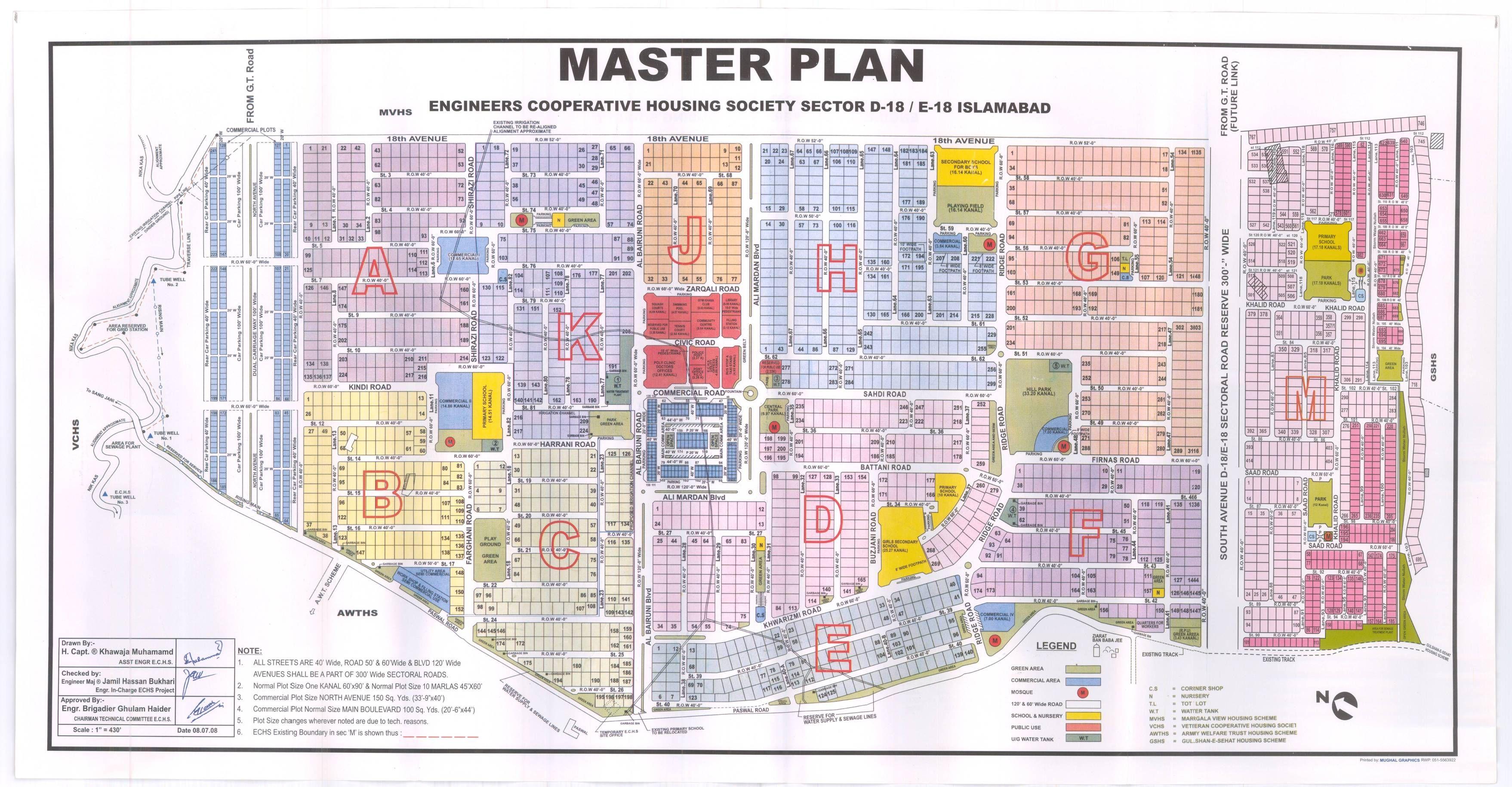 Echs D18 Layout Map Islamabad Islamabad Map Engineering