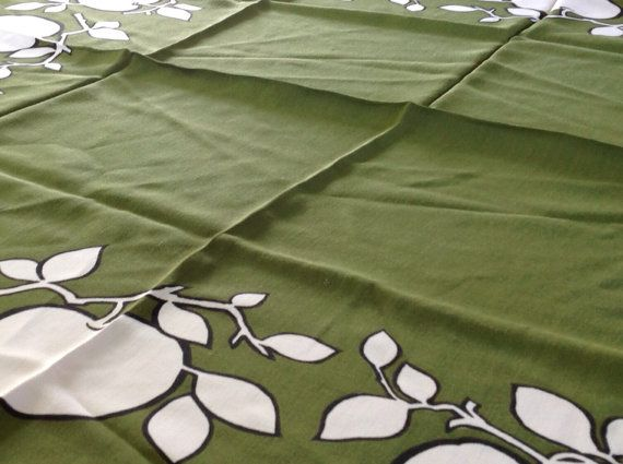 Vintage 1970's Irish Linen Table Cloth in by Onmykitchentable, £20.00
