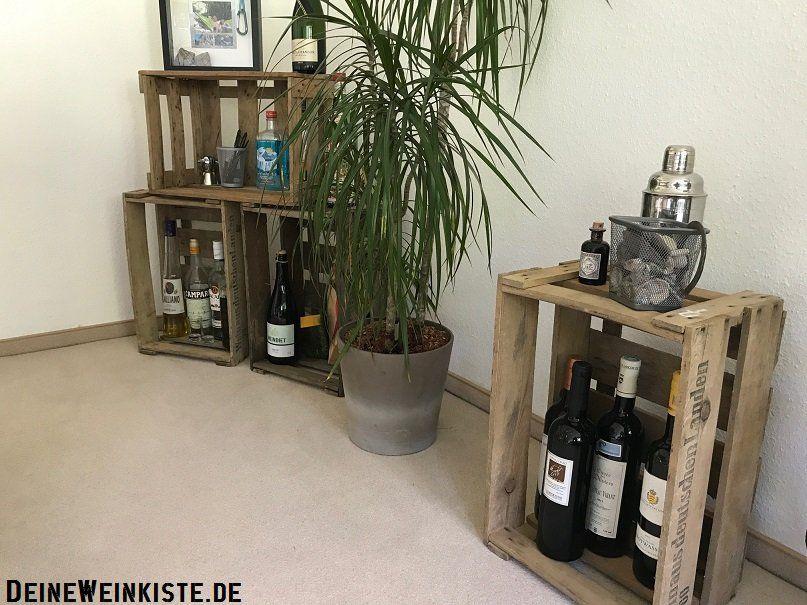 Weinkisten (mit Anti-Hozwurm-Wärmebehandlung) für Flaschen mit