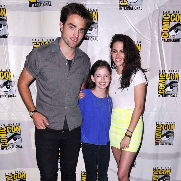 Hach, wie niedlich! Also nicht nur die noch vereinten Robert Pattinson und Kristen Stewart, sondern auch die kleine Mackenzie Foy alias