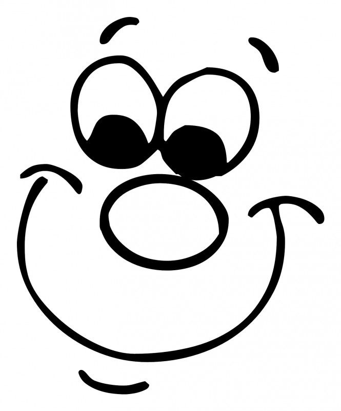 Gezichtjes Monster Coloring Pages Eye Stencil Silly Faces