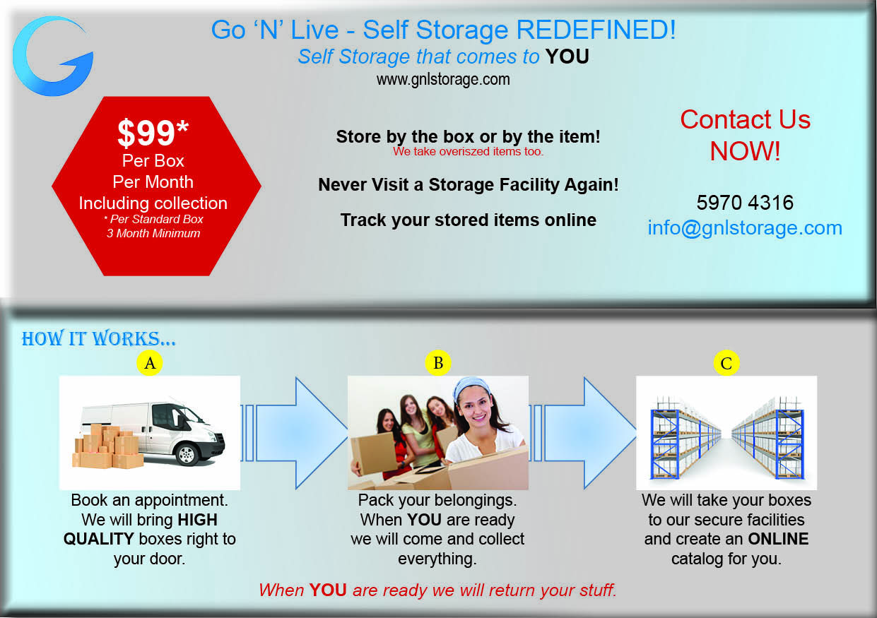Go N Live Offers Door To Door Self Storage Services We Collect And Deliver Items For Storage You Pack And We Will Store I Storage Facility Self