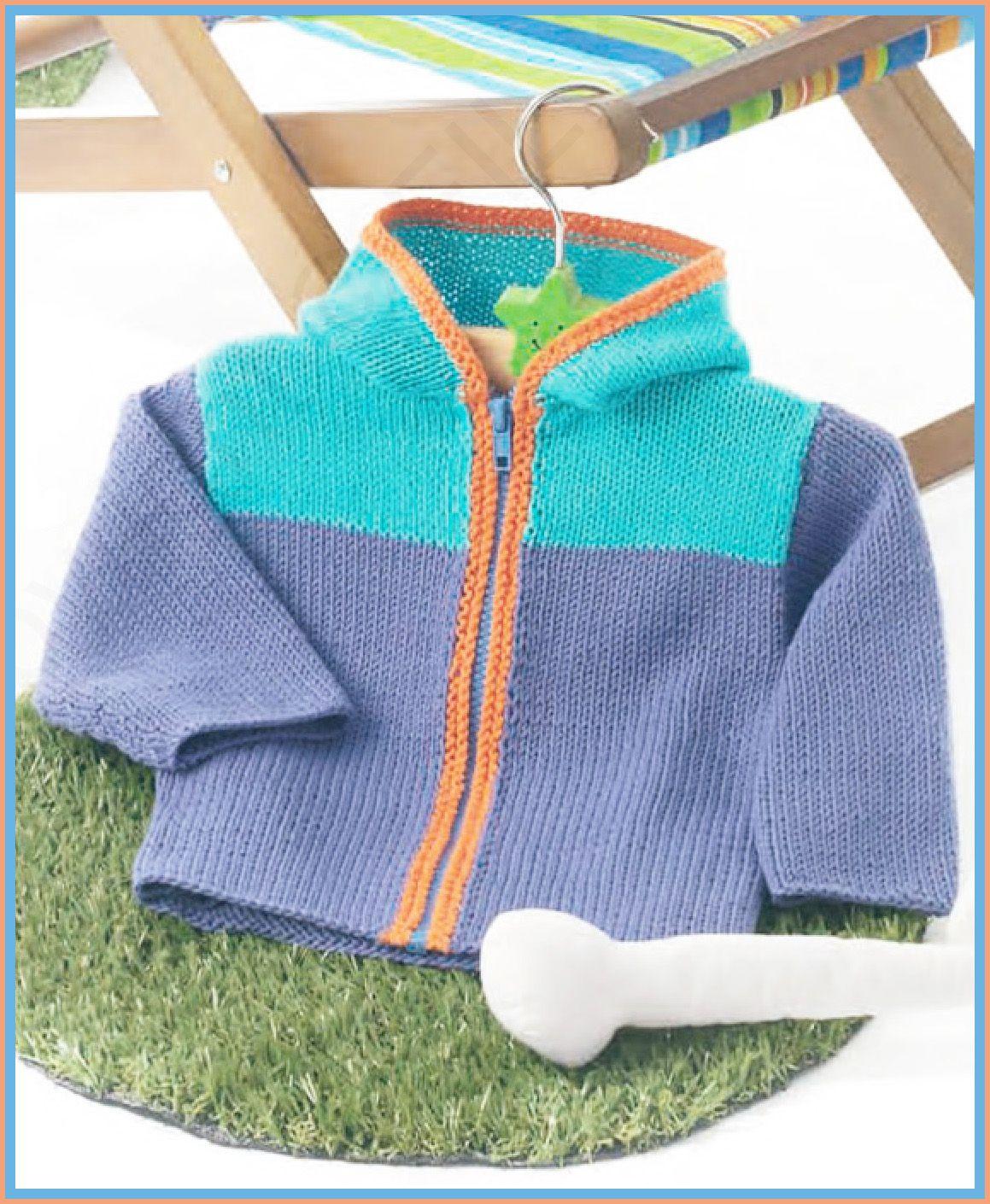 Patrón chaqueta de hilo de niño con capucha | Bebé 3-24 meses ...