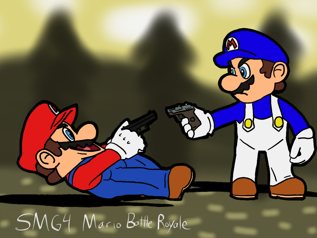 SMG4 - Mario Battle Royale by Ultrasponge | funny | Mario, Mario