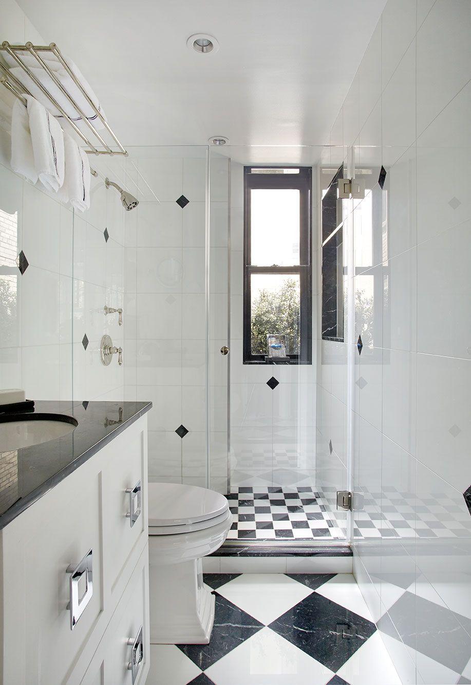 Classic black and white tile in bathroom design | Opum.AD ...