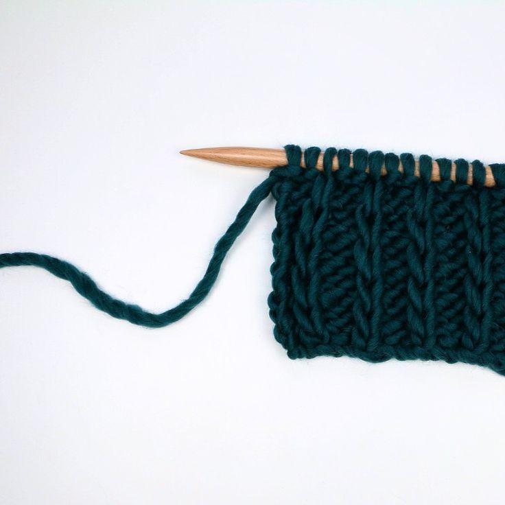 Côtes à mailles glissées - Raised rib stitch