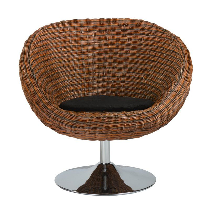 Lowest Price Online On All Eurostyle Oliana Swivel Chair In Triple Brown Rattan 01119 Round Swivel Chair Chair Leather Lounge Chair