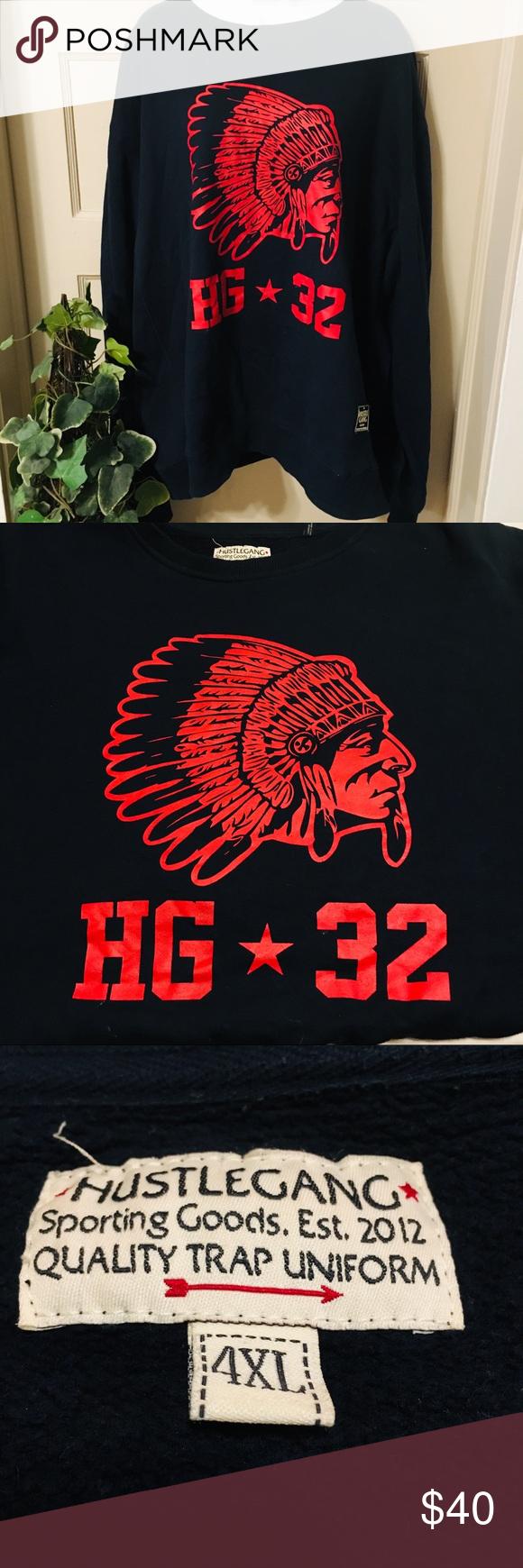 Hustle Gang Grand Hustle Mens Top Mens Tops Mens Big And Tall Crew Neck Sweatshirt [ 1740 x 580 Pixel ]