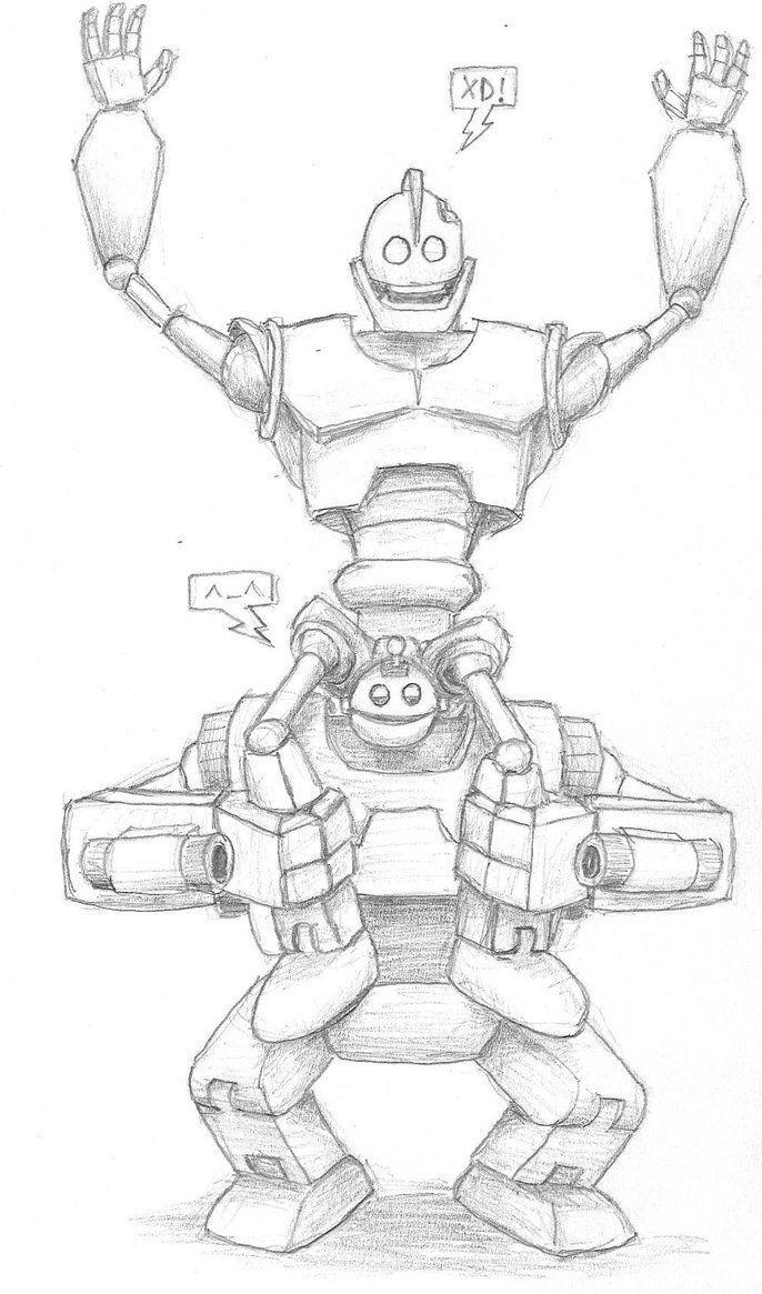 The Iron Giant And Giant Clank By Kirimi E On Deviantart The