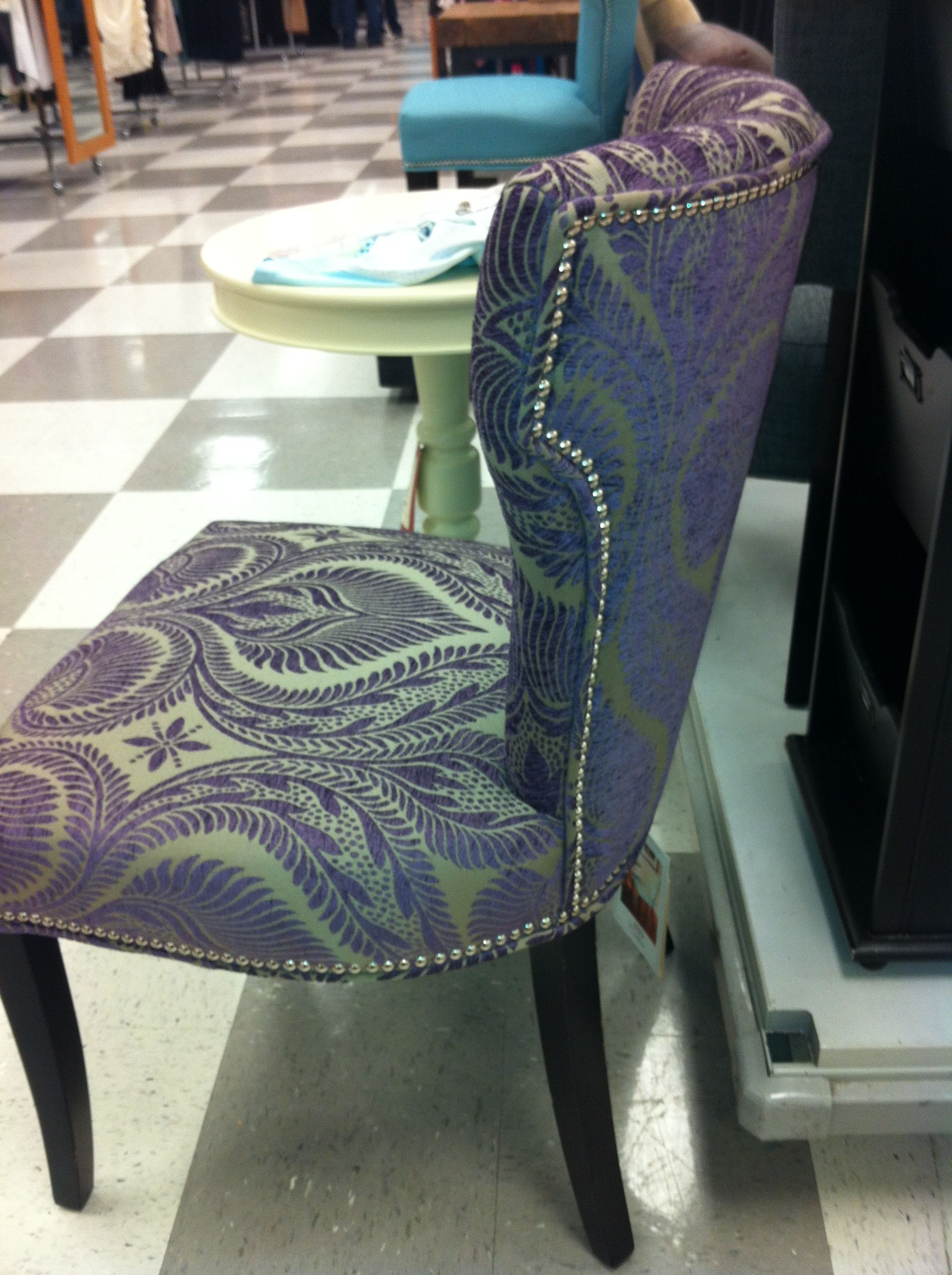 Purple chair found at tj maxx bright bold glam pinterest purple chair found at tj maxx geotapseo Choice Image
