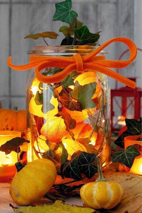 Herbstdeko im Glas selbst zeugen \u2013 Einfache Ideen zum Nachmachen - oster möbel schlafzimmer