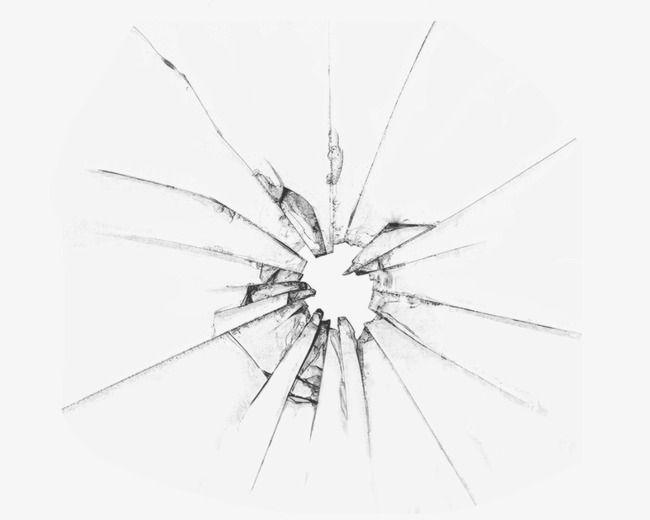 Glass Single Crack Pin by Fredric Linder ...