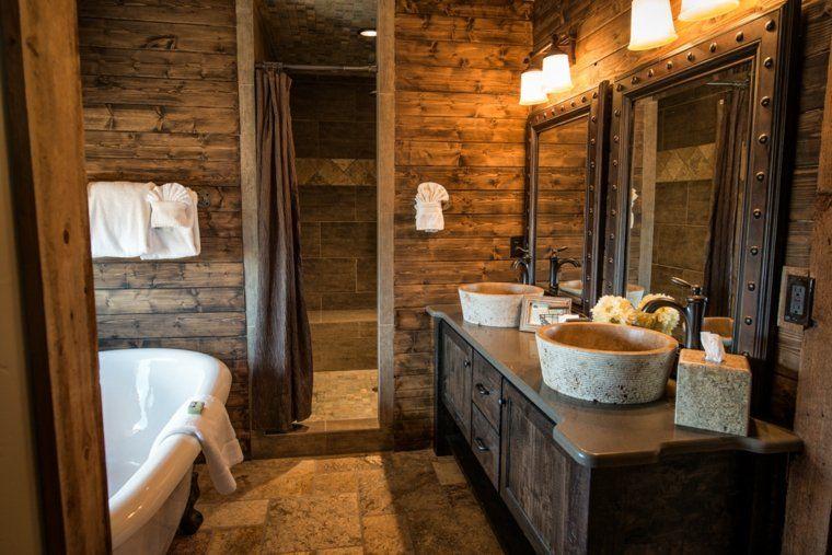 Salle de bain rustique, contemporaine et tendance | Saint ...