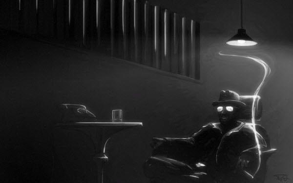 Film Noir 30 Dark And Cold Digital Artworks Film Noir Black