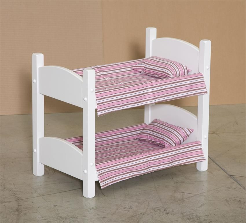 American Made Wooden Doll Bunk Bed Eco Friendly Wooden Toys