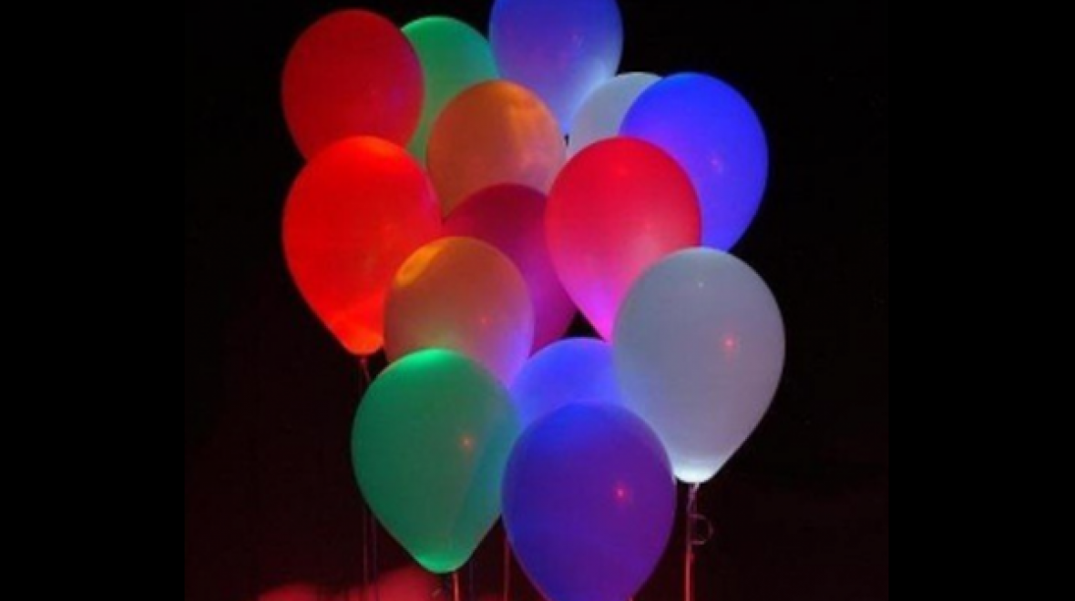Q-Lite Light Up Balloons Happy Birthday Party Decoration LED Wedding Glowing