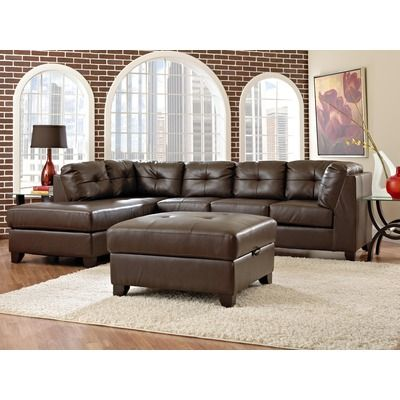 American Furniture Bentley Bonded Leather Sectional Sofa Wayfair