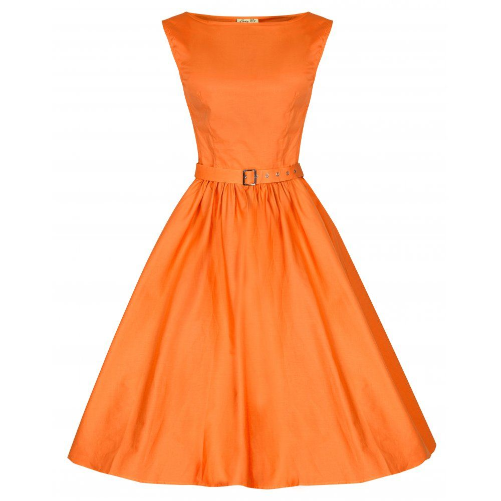 Audrey hepburn style vintage 1950s dusky orange rockabilly swing audrey hepburn style vintage 1950s dusky orange rockabilly swing dress ombrellifo Image collections