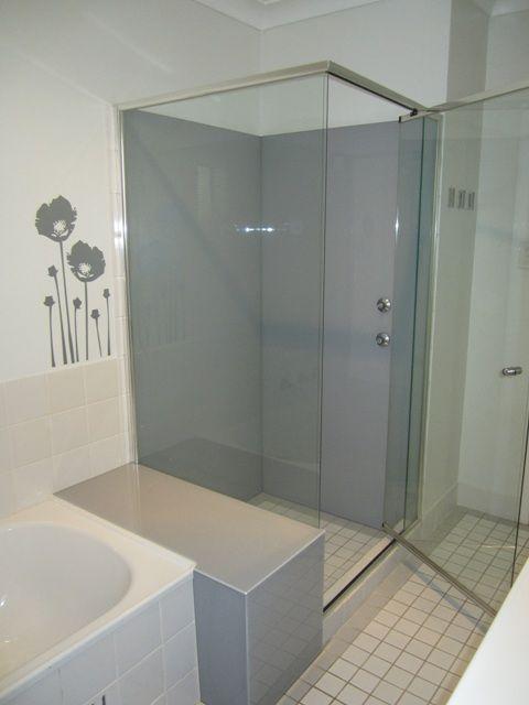 Shower Splashback Colour Endless Dusk Installed By Ozziesplash Bathroom Design Acrylic Shower Walls Shower Splashback
