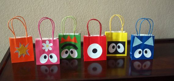 18 Yo Gabba Gabba Party Favor bags by CraftingCashman on Etsy, $36.00