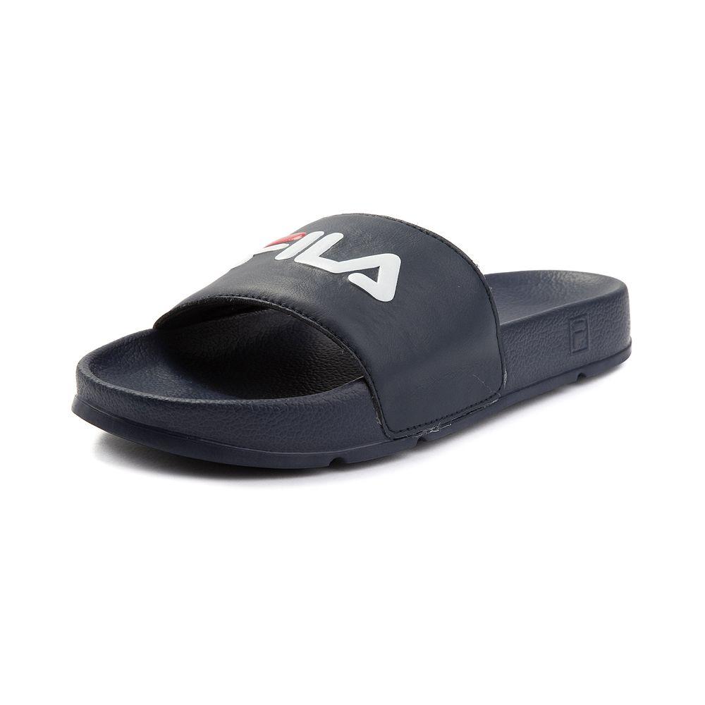 e79c353dcfa8 Womens Fila Drifter Slide Sandal - Navy Red White - 96452033