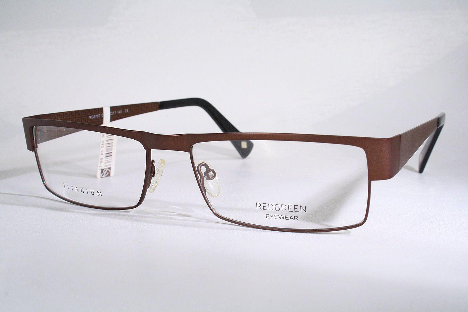 69de96f247 REDGREEN New TITANIUM Brown Danish Design Eyeglass Frames Mens Large Nickel  Free