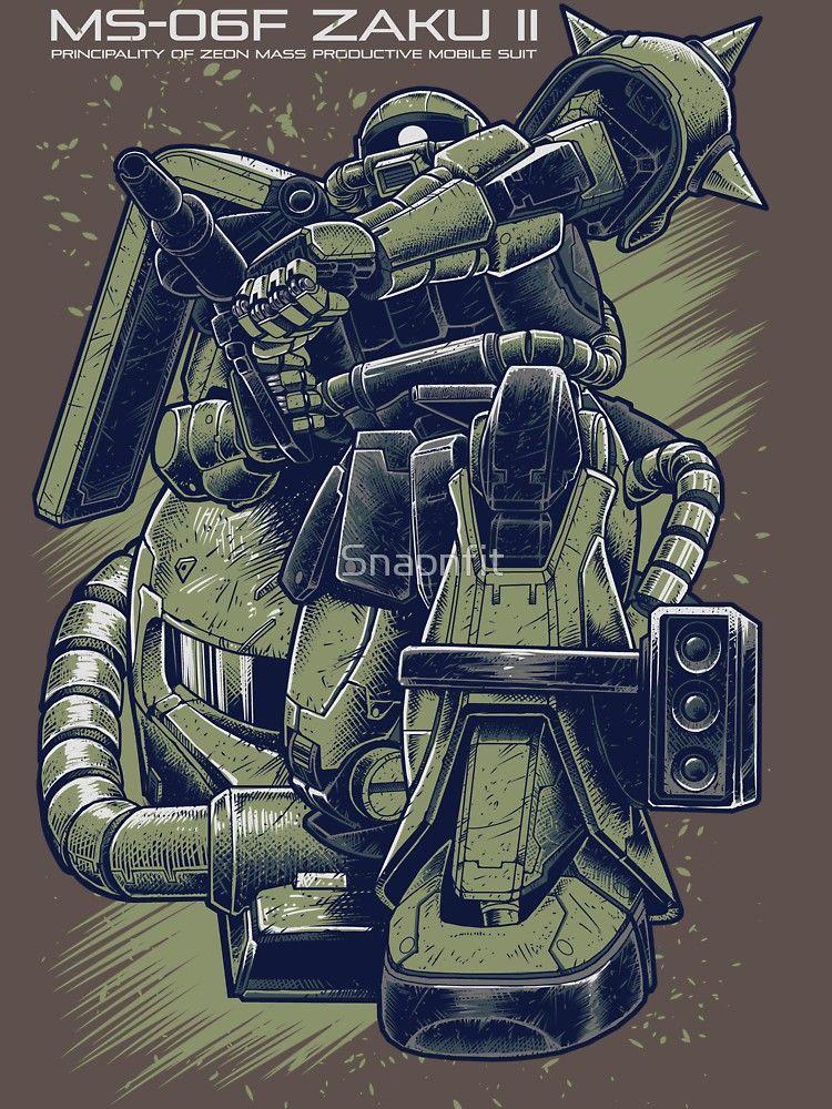 Zaku Essential T Shirt By Snapnfit Gundam Wallpapers Gundam Art Gundam Model