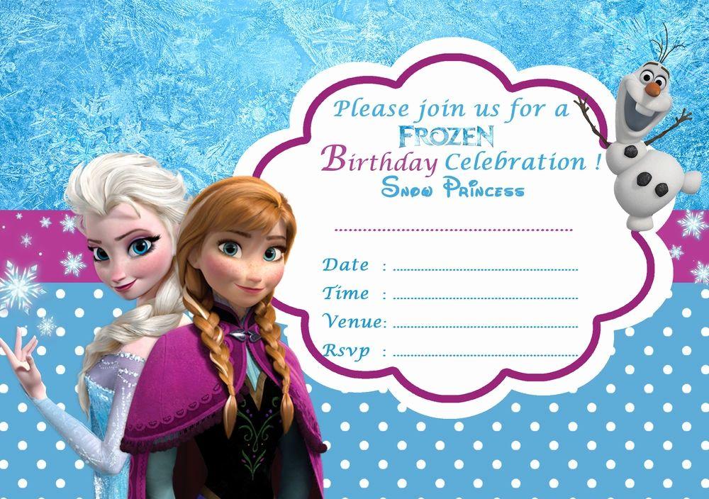 Frozen Birthday Card Template Fresh Frozen Birthday Invitation 1 Party Invite Template Frozen Birthday Party Invites Frozen Invitations