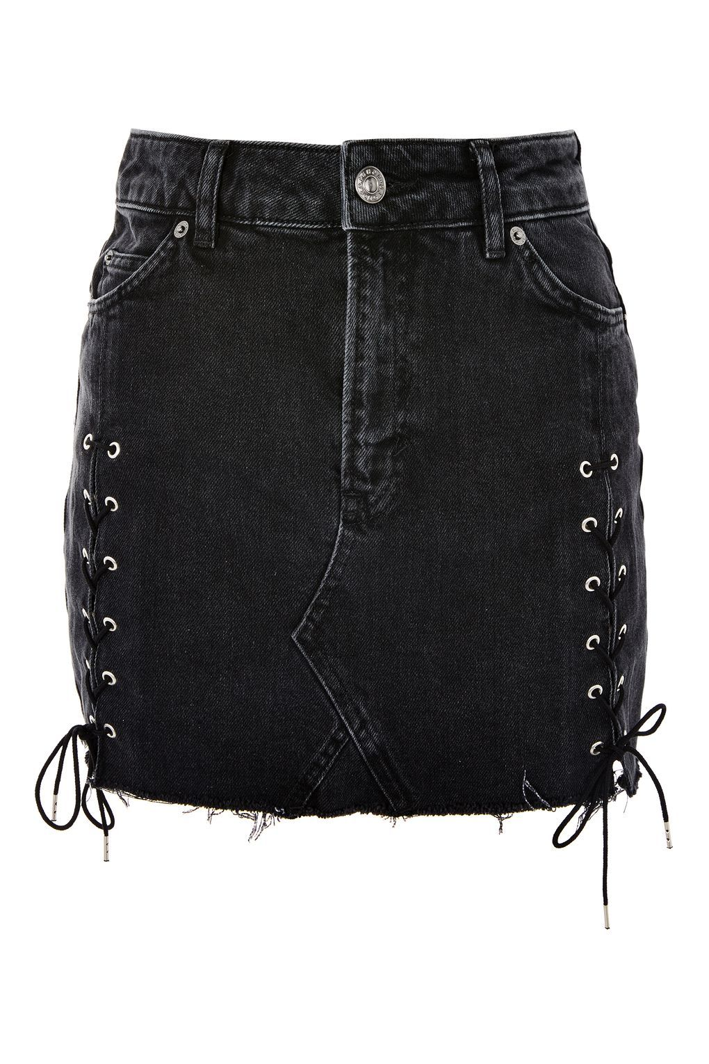 da6c7f66ce MOTO Lace Up Denim Mini Skirt in 2019 | Open House 2017 | Denim mini ...