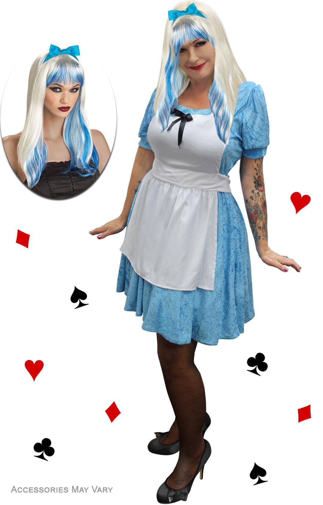 NEW! Plus Size Alice In Wonderland Halloween Costume 1x 2x