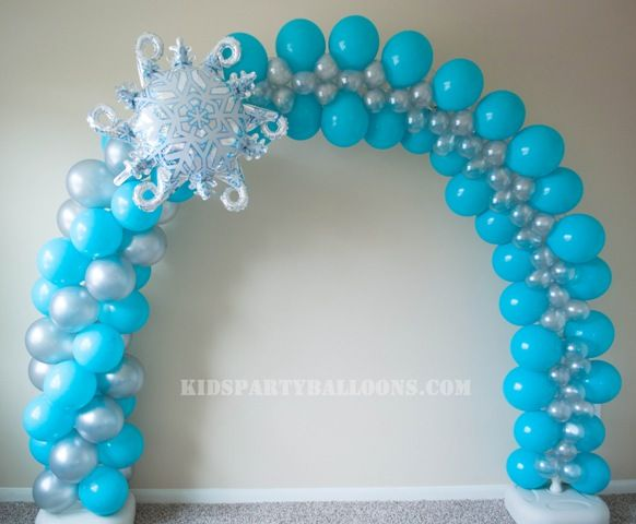 Frozen balloon arch globos pinterest frozen balloons for Frozen balloon ideas