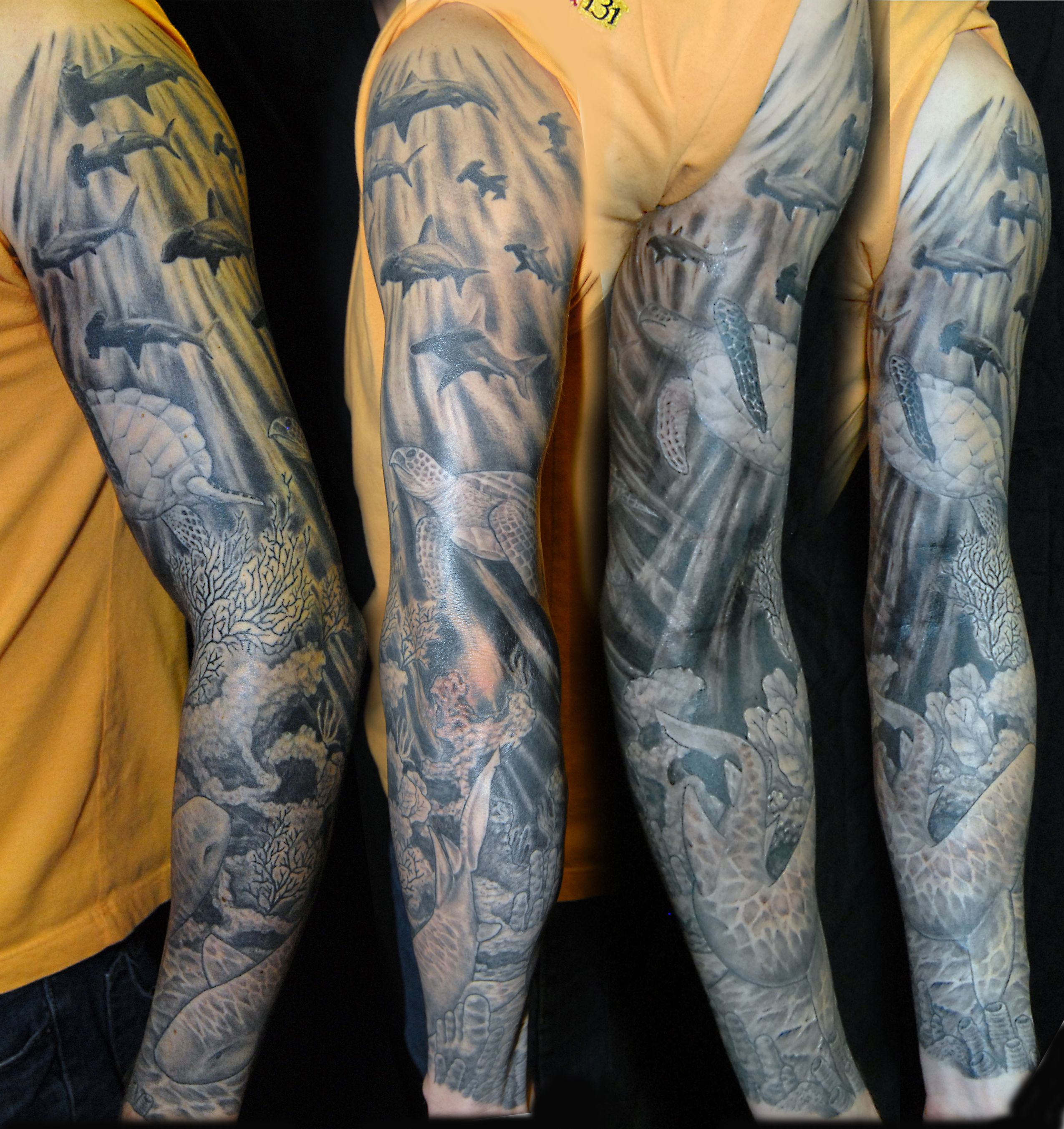 12572ae7d black and grey underwater tattoo - Google Search | tattoo ideas ...