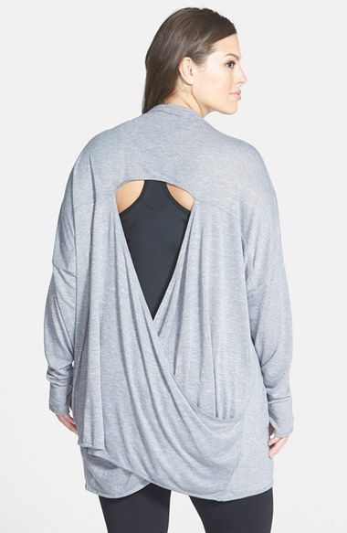 Photo of Zella 'Athena' Open Back Drape Cardigan (Plus Size) | Nordstrom