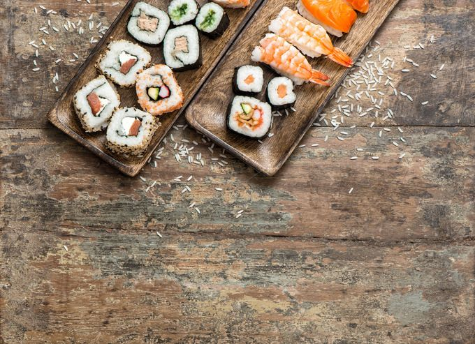 Traditional japanese food Sushi by LiliGraphie on @creativemarket