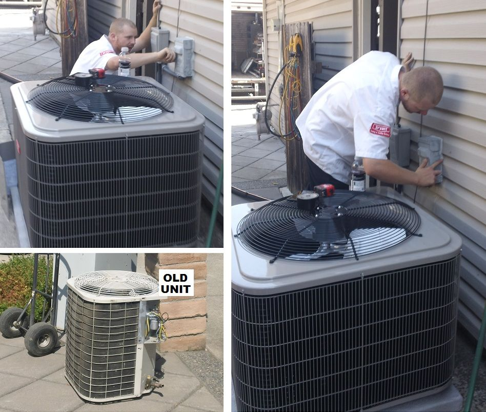 Installer Mike B Installing A Bryant Air Conditioner In Vacaville