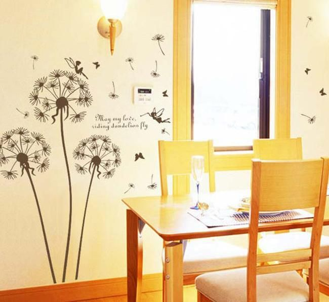 Removable Art Vinyl Quote Diy Dandelion Wall Sticker Decal Mural ...
