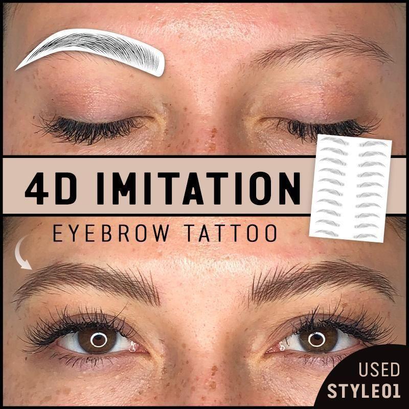 4d imitation eyebrow tattoos in 2020 eyebrow tattoo